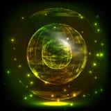 Sfery Składać się z trójboki i linie Globalny Cyfrowego związek Abstrakcjonistyczna kuli ziemskiej siatka Wireframe ilustracja 3D Obraz Stock