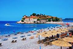 Sfeti Stefan beach Royalty Free Stock Image