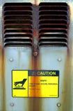Sfiato caldo di avvertenza Fotografia Stock