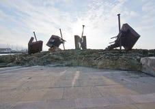 SFIATO della scultura del ferro Immagine Stock