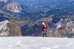 Sfida alpina Fotografie Stock Libere da Diritti