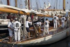 Sfida classica degli yacht di Panerai, Imperia, Italia Fotografia Stock Libera da Diritti