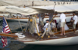 Sfida classica degli yacht di Panerai, Imperia, Italia Immagini Stock Libere da Diritti