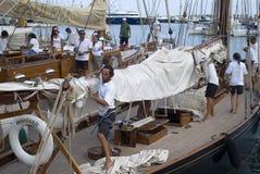 Sfida classica degli yacht di Panerai, Imperia, Italia Immagine Stock