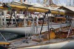 Sfida classica degli yacht di Panerai, Imperia, Italia fotografia stock