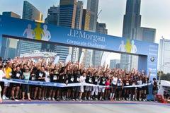 Sfida corporativa 2011 di Singapore JP Morgan Fotografia Stock