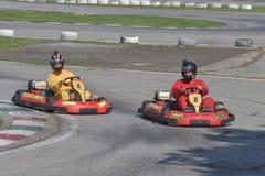 Sfida del kart di Unieuro alla valle felice di Kartodromo in RA di Cervia Immagine Stock Libera da Diritti