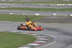 Sfida del kart di Unieuro alla valle felice di Kartodromo in RA di Cervia Fotografia Stock