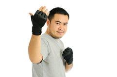 Sfida dell'uomo nel combattimento del corpo Fotografia Stock