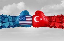 Sfida di commercio della Turchia U.S.A. Fotografie Stock Libere da Diritti