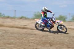 Sfida di motocross Immagini Stock Libere da Diritti