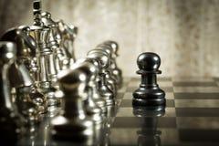 Sfida di scacchi Fotografia Stock