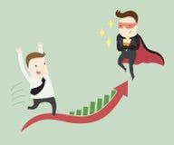 Sfida eccellente dell'uomo d'affari voi a successo nel vostro lavoro Immagine Stock