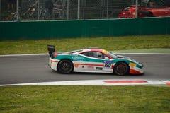 Sfida Evo di Garry Kondakov Ferrari 458 a Monza Fotografia Stock Libera da Diritti