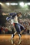 Sfida hip-hop del ballerino Immagini Stock Libere da Diritti