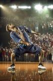 Sfida hip-hop del ballerino Fotografia Stock Libera da Diritti