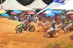 Sfida internazionale di motocross di Kemaman | Terengganu | La Malesia Immagini Stock Libere da Diritti