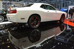 Sfidante di Dodge al salone dell'automobile di Ginevra Fotografia Stock Libera da Diritti