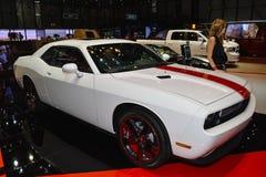 Sfidante di Dodge al salone dell'automobile di Ginevra Fotografie Stock Libere da Diritti