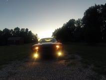 Sfidante di tramonto Fotografie Stock