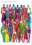 Sfilata di moda astratta Fotografia Stock Libera da Diritti