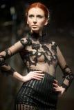 Sfilata di moda dei vestiti da cerimonia nuziale Fotografia Stock Libera da Diritti