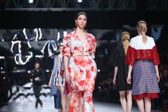 Sfilata di moda di Bipa: Aman, Zagabria, Croazia Fotografia Stock Libera da Diritti