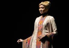 Sfilata di moda musulmana in Indonesia Fotografie Stock