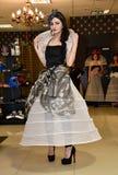 Sfilata di moda 05 03 2017 Singolo coniglietto della sede Dimostrazione del copricapo Immagine Stock Libera da Diritti