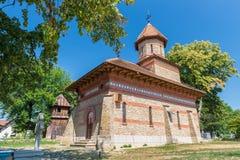 The SfinÈ›ii Voievozi stone Monastery in Ipotesti. IPOTESTI, ROMANIA - AUGUST 05, 2015: The SfinÈ›ii Voievozi stone Monastery inside memorial museum stock photography
