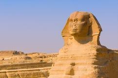 Sfinks i ostrosłupy przy Giza, Kair Obraz Stock
