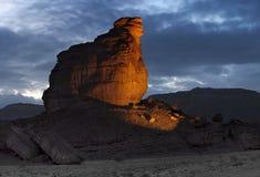 Sfinks-pietra nella sosta di Timna Fotografie Stock
