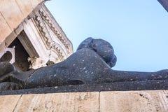 Sfinks przy Diocletian pałac, Rozszczepiony Chorwacja Fotografia Royalty Free