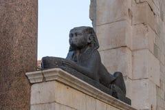 Sfinks statua przy Diocletian pałac w rozłamu Fotografia Royalty Free