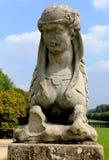 Sfinks statua przy górską chatą de Fontainebleau, Paryż, Francja Zdjęcie Stock