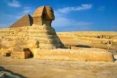 Sfinx & Piramide royalty-vrije stock foto