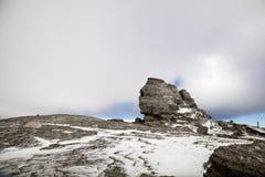 Sfinx av Bucegi i Rumänien Royaltyfria Foton