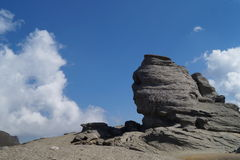 Sfinx av Bucegi, Rumänien Arkivbild