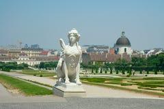 Sfinx in Belvedere tuin, Wenen, Oostenrijk Stock Foto's