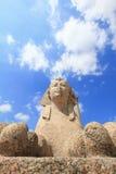 Sfinx bij de pijler van Pompey, Alexandrië Stock Fotografie