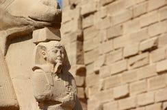 Sfinx bij de Tempel Karnak. Stock Foto's