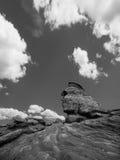 Sfinx cinzelou a formação de rocha Foto de Stock Royalty Free