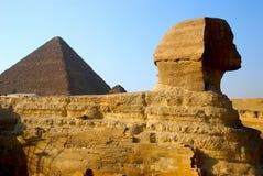 Sfinx en Piramide van Cheops Royalty-vrije Stock Afbeelding
