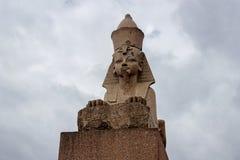 Sfinx i petersburg Fotografering för Bildbyråer