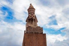 Sfinx i petersburg Royaltyfri Fotografi