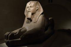 Sfinx in Louvre wordt blootgesteld dat Stock Foto