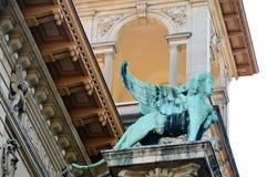 Sfinx på det Lausanne universitetet Royaltyfri Fotografi