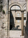 Sfinx, palais de Diocletian, fente, Croatie Images libres de droits