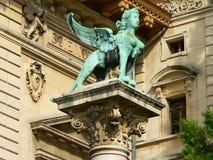 Sfinx Palais de Rumine, Lausanne (Suisse) Arkivbild