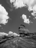 Sfinx schnitzte Felsen-Anordnung Lizenzfreies Stockfoto